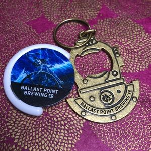 Other - New Ballast Point Brewing keychain and pop socket